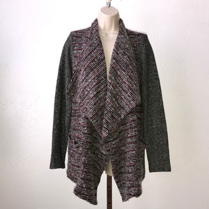 Lucky Brand open front draped cardigan sweater T29